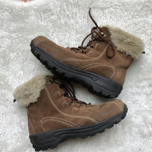 2d5cad5ca15 Earth Spirit Seona Brown Suede hiking boot Size 8
